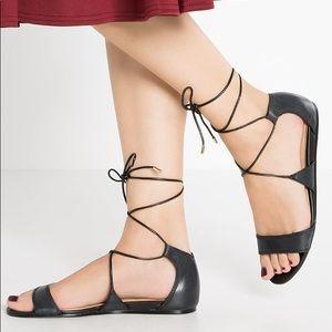 Aldo 'Brena' Leather Lace-Up Gladiator Sandals